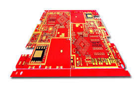 China Custom FR-4 Red Solder Mask Double Sided Pcb Design 6 Layers Fabrication Supplier