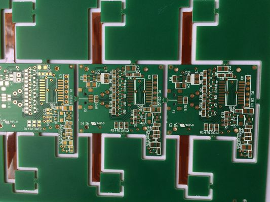 China Custom Rigid Flexible PCB Board Assembly Gold Finishing RoHS Supplier