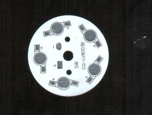 China Round Ultra Bright Led SMD Aluminium PCB With Diameter 80mm 10W Supplier