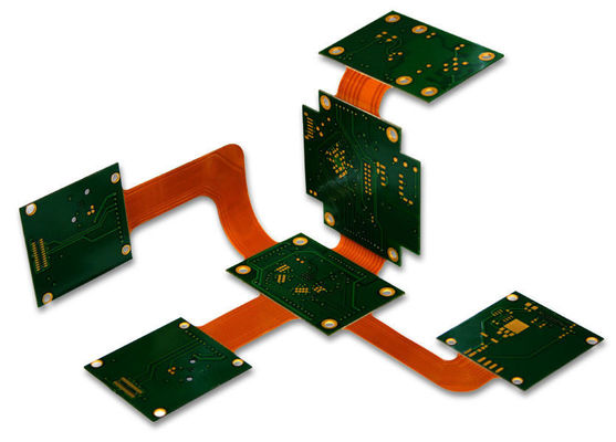 China Professional 8 Layer Rigid Flex PCB / Multilayer Printed Board Aluminium Material Design Supplier