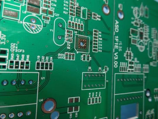 China High Precision Rigid Sided PCB Board Assembly FR4 Material With 2-layer Green Solder Mask Supplier
