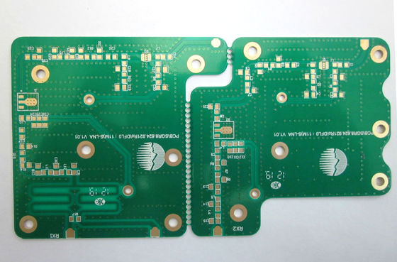 China White Silkscreen Double Sided PCB Board Gold Plating With Finished Copper 1 OZ Supplier