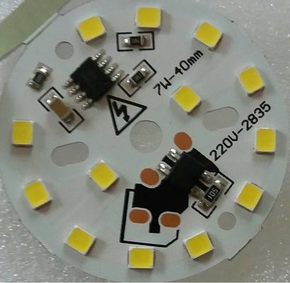 China Aluminium Circuit Board Dimmable 7W AC220V LED PCB Lamp Bead Chip White Color Diameter 40mm Support Supplier