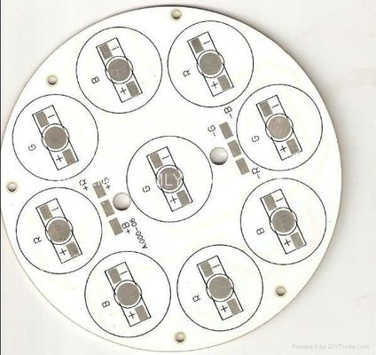 China Led Aluminium PCB Board With One Layer Thickness 1.6mm 40W Power 108mm Dia Apply Supplier