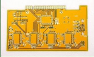 China 8 Layer Gold Finger PCB Board Yellow Solder Mask With White Screen Supplier