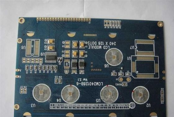 China Blue 2 Layers 1 oz Copper PCB FR4 Chip On Board Assembly Services Supplier