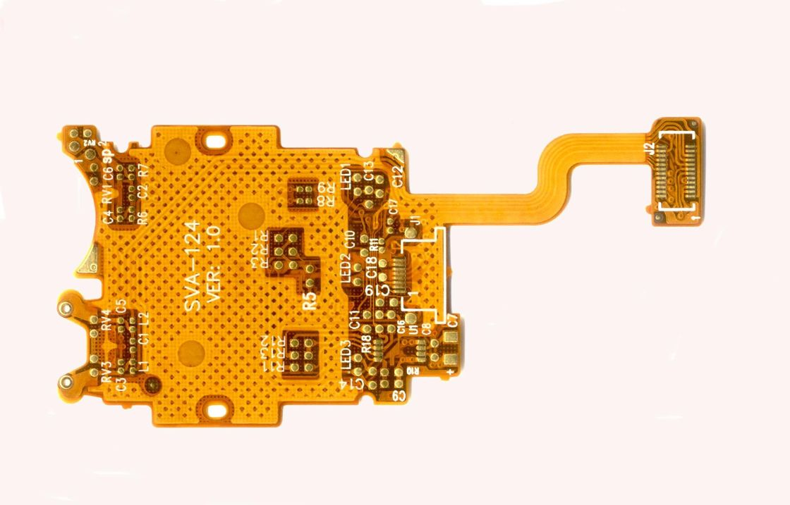 Professional Rohs Fpc Board Flexible Pcb With Stiffener Yellow China Printed Circuit Assembly Rigid A Double Layer Solder Mask