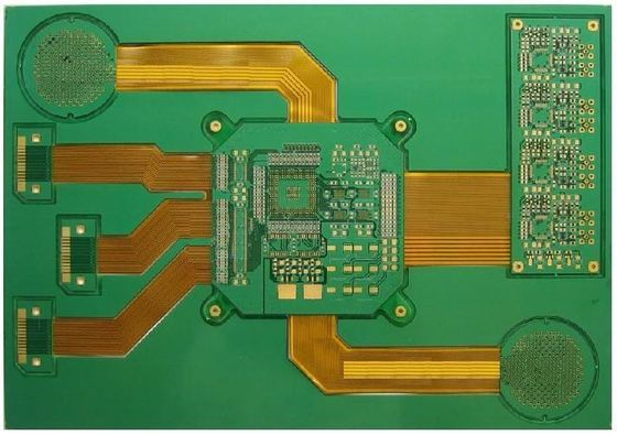 Rigid Flex Circuit Board 8- Layer With 0.3mm / 1.6mm Thickness Green Solder Mask CE ROHS
