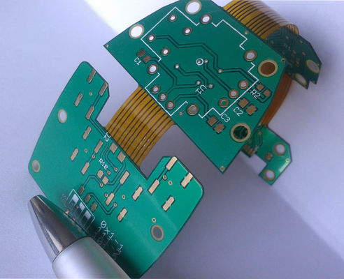 Customized Rigid Flex Circuit Board / Six Layer FR4+Polyimide HASL Surface Finishing