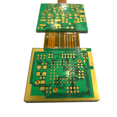 Circuit Boards Rigid Flex PCB Green Solder Mask FR4 Polyimide Material Thickness 1.6mm
